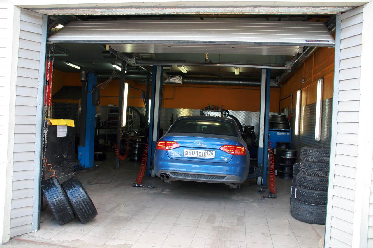 Въезд в гараж в разных вариантах 43